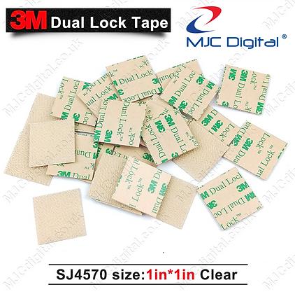 50pcs 3M™ Dual Lock™ Clear 1inch x 1inch SJ4570 Low Profile