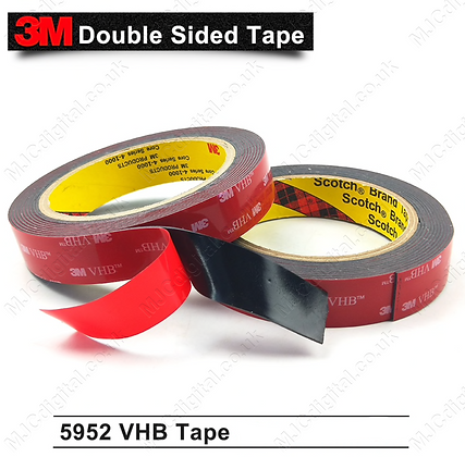 3M VHB 10mm x 3m x 1.1mm BLACK Acrylic Foam Double Sided Attachment Heavy Duty