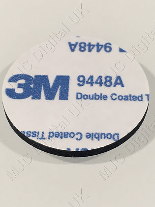 4 Pads of 50mm Diameter 3M 9448A CIRCLE BLACK  DOUBLE COATED  TISSUE ADHESIVE
