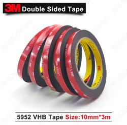 3M VHB 10mm x 3m x 1.1mm BLACK
