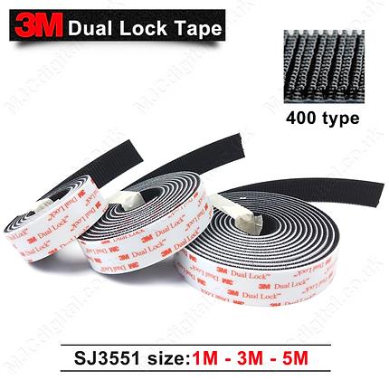 3M™ Dual Lock Fastener 30pcs of 25mm x 50mm Strips SJ3551 Self Adh