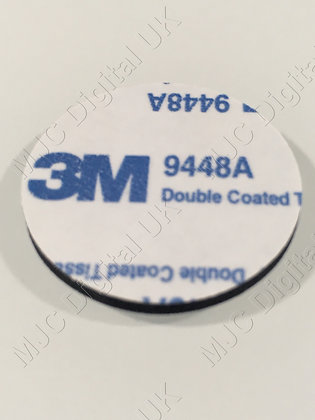 5 Pads of 35mm Diameter 3M 9448A CIRCLE BLACK DOUBLE COATED TISSUE ADHESIVE