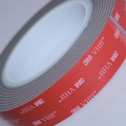 3M VHB 25mm x 3m x 2.3mm Grey Acrylic Foam Double Sided Attachment Heavy
