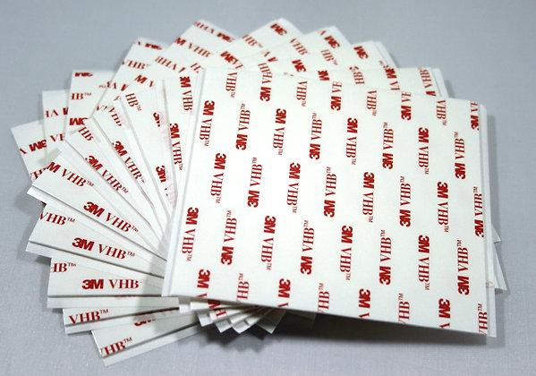 3M VHB 4945 100 x 100mm Double Sided Tape Acrylic Foam Adhesive Sheet White