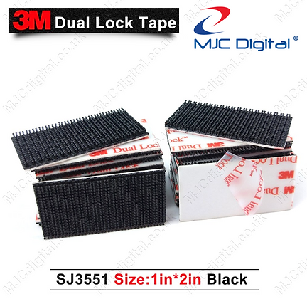 3M™ Dual Lock Fastener 20pcs of 1 inch x 2 inches Strips SJ3551 Self Adhesive