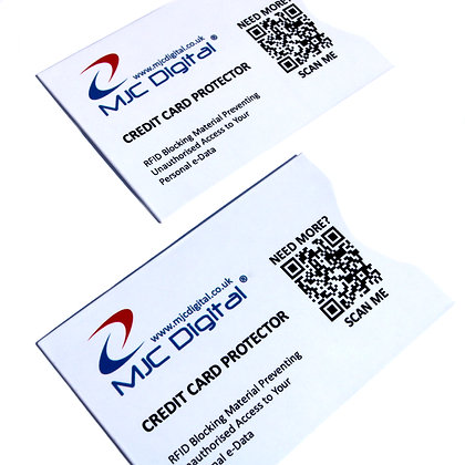 2 x Contactless Credit Debit Card Protector RFID Blocking Security Credit Card