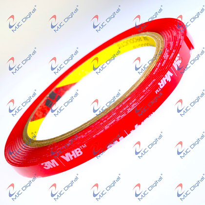 3M™ VHB 10mm x 3 meters 4910 Clear Double-Sided Tape Acrylic Foam Heavy D