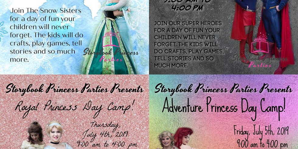 A Full Week of Princess and Hero Camps!