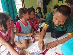 YE Outreach Programme student mentoring other children