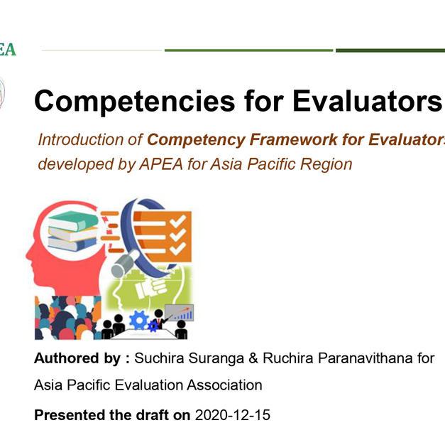 Competency Framework for Evaluators