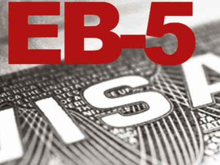 July 26, 2019 Changes in the investor's EB-5 visa