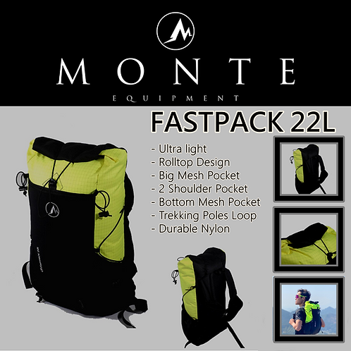 MONTE EQUIPMENT Fastpack 22L Lime Green