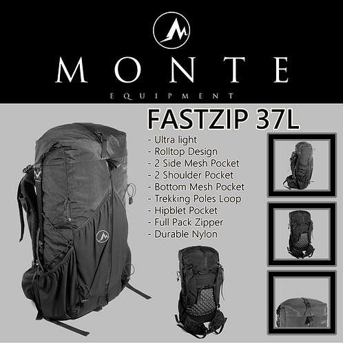 MONTE EQUIPMENT Fastzip 37L Black (Pre Order Mid of Feb)