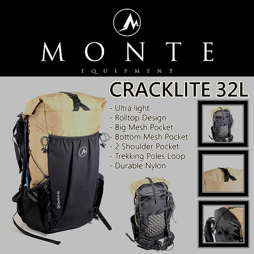 MONTE EQUIPMENT Cracklite 32L BROWN
