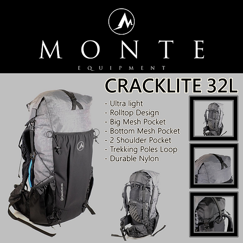 MONTE EQUIPMENT Cracklite 32L GREY