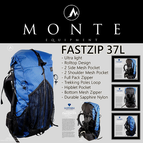 MONTE EQUIPMENT Fastzip 37L Limited Blue