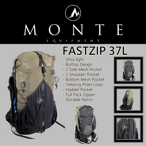 MONTE EQUIPMENT Fastzip 37L OLIVE (Pre Order Mid of Feb)