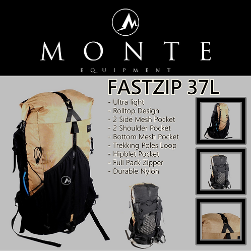 MONTE EQUIPMENT Fastzip 37L BROWN (Pre Order Mid of Feb)