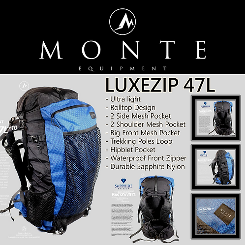 MONTE EQUIPMENT Luxezip 47L Limited Blue