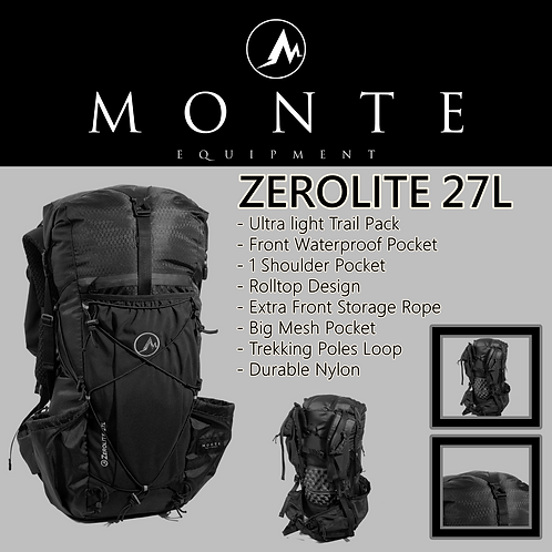 MONTE EQUIPMENT Zerolite 27L BLACK