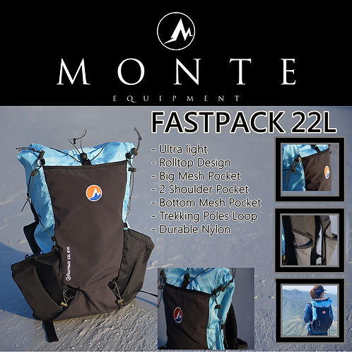MONTE EQUIPMENT Fastpack 22L Blue