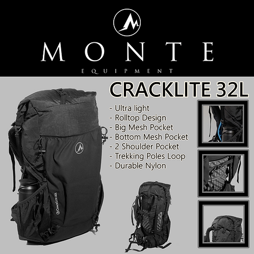MONTE EQUIPMENT Cracklite 32L BLACK