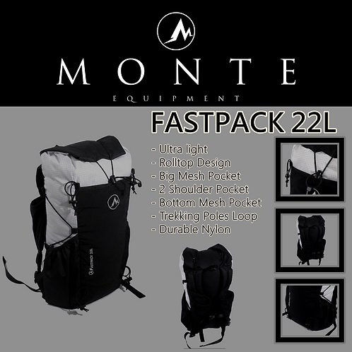 MONTE EQUIPMENT Fastpack 22L White