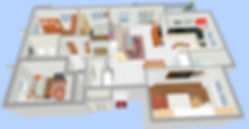 This image shows the apartment in 3D