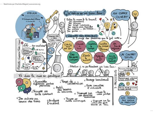 Facilitation graphique : Tiers-lieux à dimension culturelle : quels éléments clés pour se lancer ?