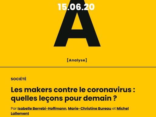 Les makers contre le coronavirus : quelles leçons pour demain ?