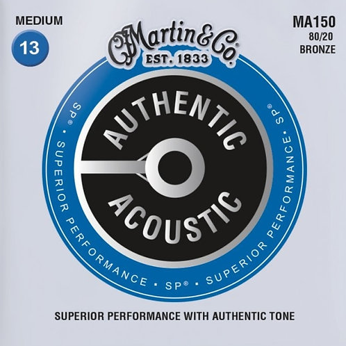 Martin Medium 80/20 Bronze SP Authentic Acoustic MA150 13-56