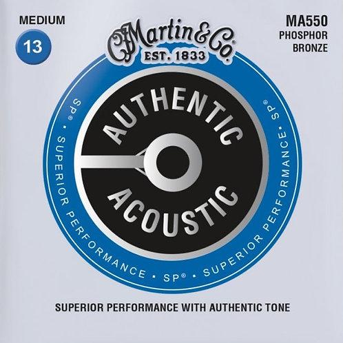 Martin Medium  Phosphor Bronze SP Authentic Acoustic MA550 13-56