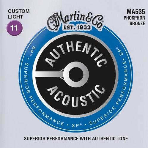 Martin Custom MA535 Light  Phosphor Bronze SP Authentic Acoustic 11-52