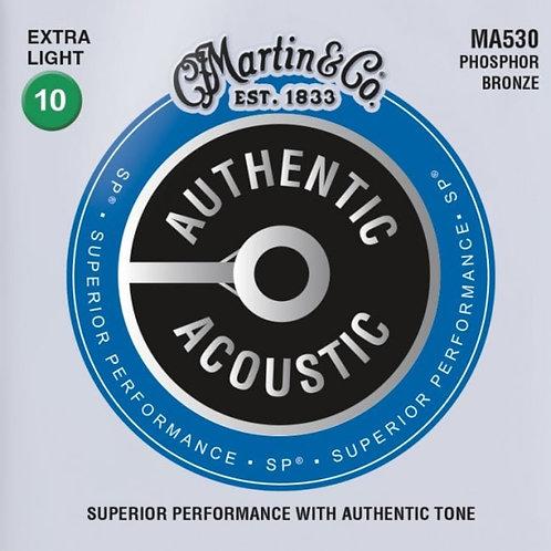 Martin Extra Light  MA530 Phosphor Bronze SP Authentic Acoustic 10-47