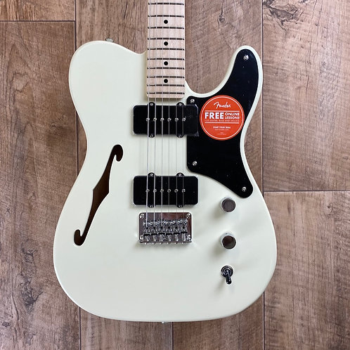 Fender Squier Paranormal Cabronita Telecaster Thinline Olympic White