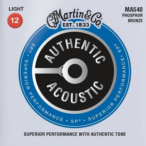 Martin Light  Phosphor Bronze SP Authentic Acoustic MA540 12-54