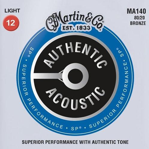 Martin Light 80/20 Bronze SP Authentic Acoustic MA140 12-54