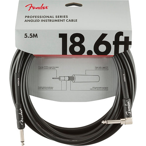 Fender Professional Series 18.6ft Angled Instrument Cable