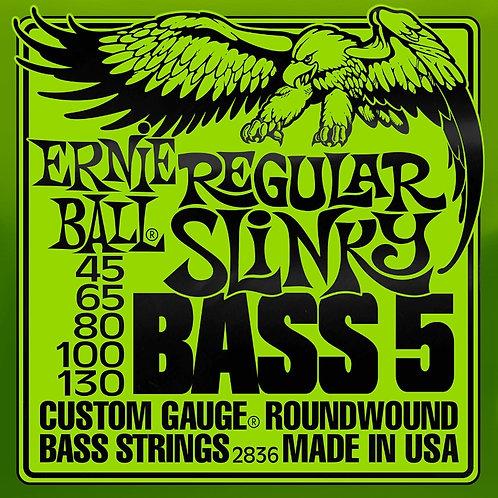 Ernie Ball Regular Slinky 5 String Bass 55 - 110 Electric Bass Strings