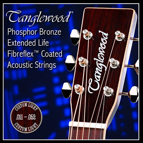Tanglewood Custom Light Phosphor Bronze TWGS11 Coated 11-52