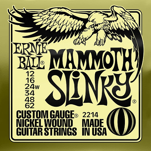 Ernie Ball Mammoth Slinky 12 - 62 Electric Guitar Strings