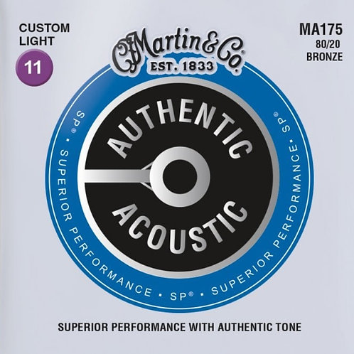 Martin Custom Light 80/20 Bronze SP Authentic Acoustic MA175 11-52