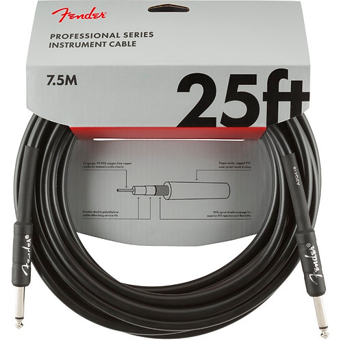 Fender Professional Series 25ft Straight Instrument Cable