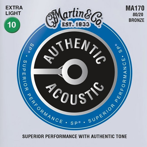 Martin Extra Light 80/20 Bronze SP Authentic Acoustic MA170 10-47