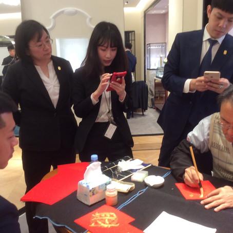2019新春  翟老師受邀在微風廣場「寶詩龍」專櫃寫春聯
