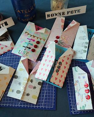 atelier art journal carte postale
