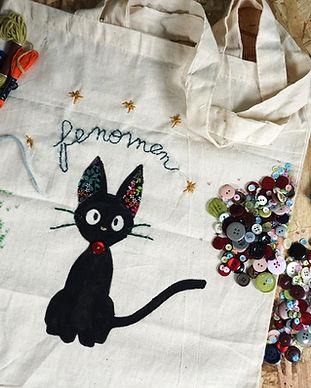 atelier créatif customisation tote bag
