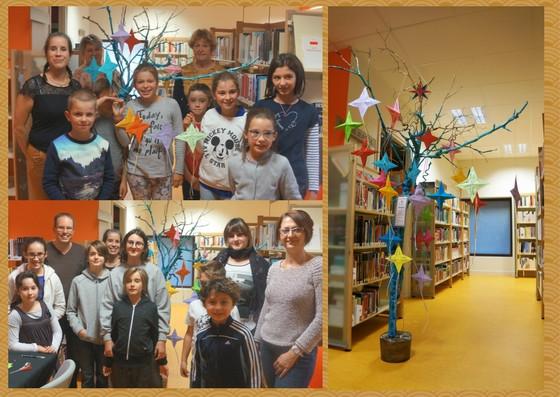 Les participants de l'atelier créatif origami