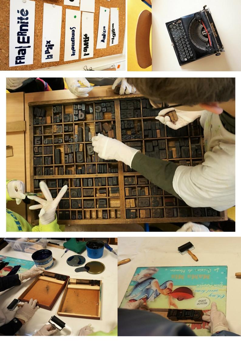 intervention scolaire typographie