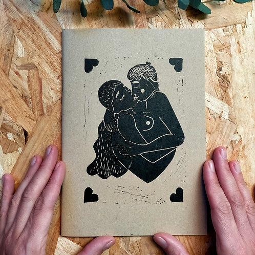 Carnet kraft A5 Le couple